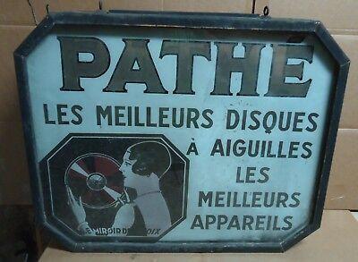 Pathe Records Antique Vintage 1920's Rare Electric Sign Le Miroir De La Voix