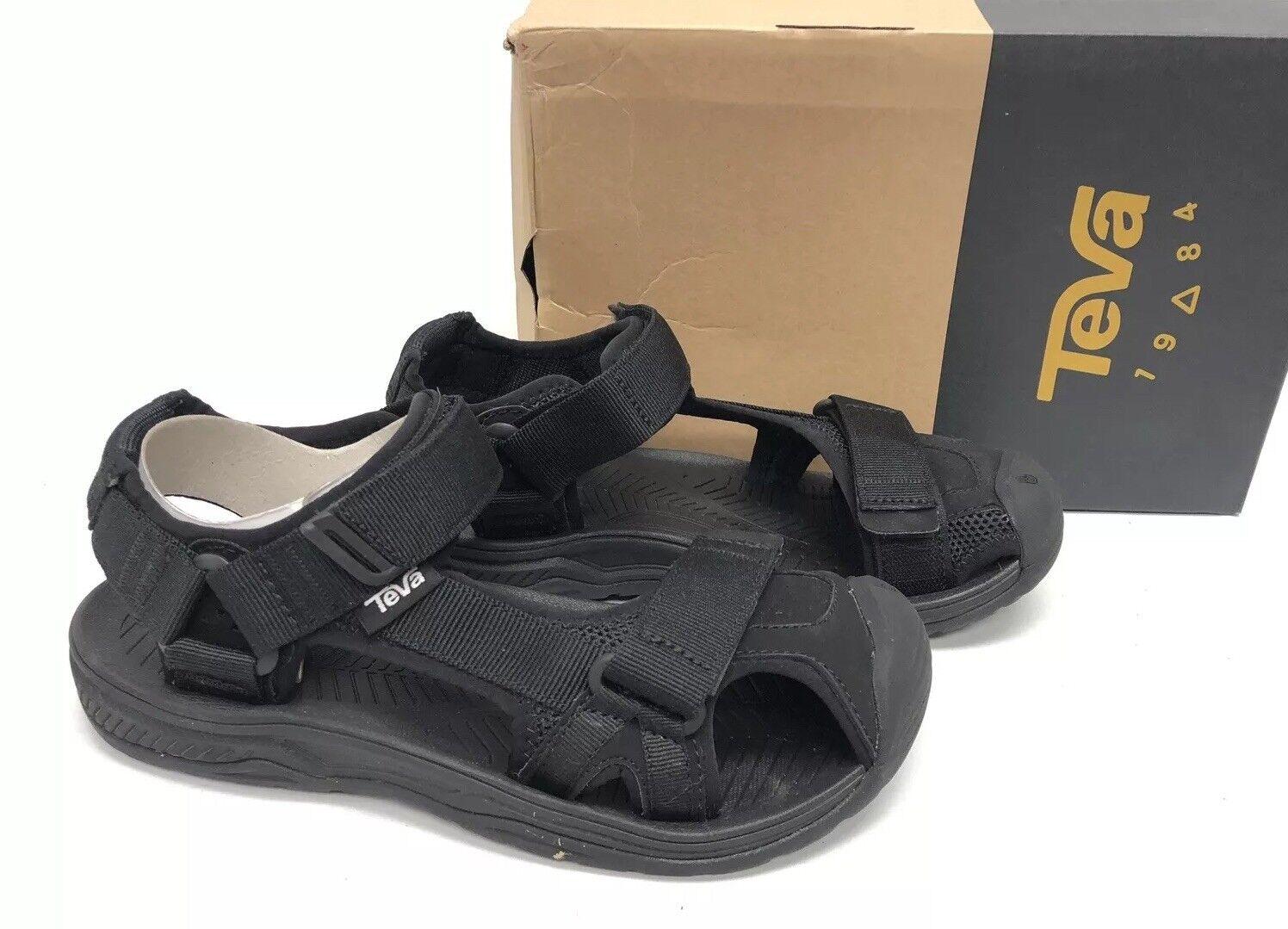 TEVA HURRICANE TOE PRO 2 BLACK STRAPPY SPORT SANDALS Men's Hiking Shoe