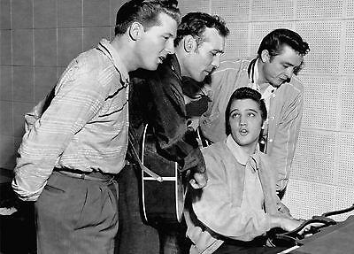 Million Dollar Quartet PHOTO Elvis Presley Johnny Cash Jerry Lee Lewis, Perkins