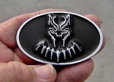 "BLACK PANTHER suit 2 3/4"" Chrysler Replacement CAR EMBLEM Metal 70mm Badge Movie"