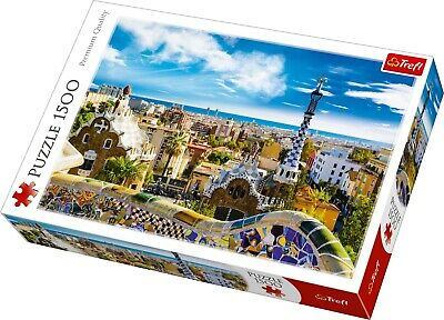 Trefl 1500 Piece Adult Large Park Guell Barcelona Spain Floor Jigsaw Puzzle NEW