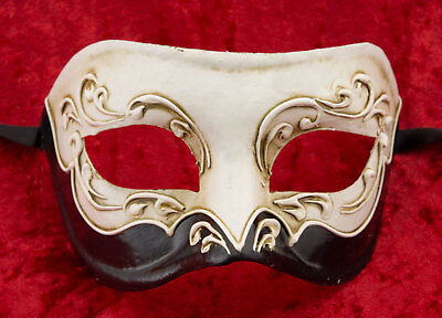 Mask from Venice Colombine White Black Paper Mache Craft Craft 22361