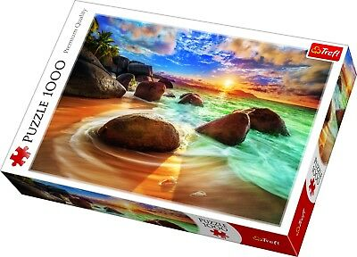 Trefl 1000 Piece Adult Large Samudra Beach India Sun Rocks Jigsaw Puzzle NEW