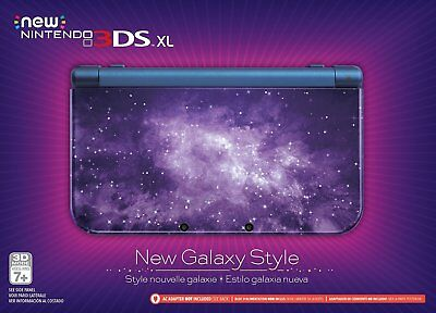 GALAXY STYLE NEW 3DS XL * NINTENDO CONSOLE * 3 YEAR WARRANTY + 1 GAME INCLUDED