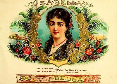 Isabella tobacco smoke cigar box label poster big art poster Big Smoke Cigar