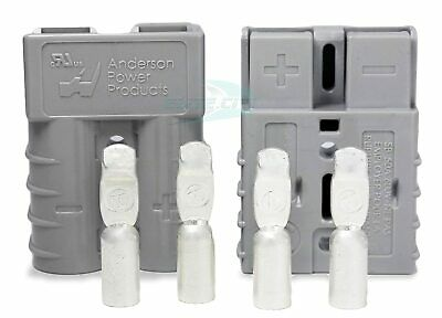Sb50 Anderson Power Products Connector Kit 50 Amps 36v Grey W 6 Awg Pair