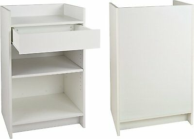 Cash Register Stand Store Pos Checkout Sales Counter Ships Knockdown White New