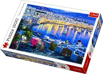 Trefl 1500 Piece Adult Large Image Mykonos At Sunset Seaside Jigsaw Puzzle NEW