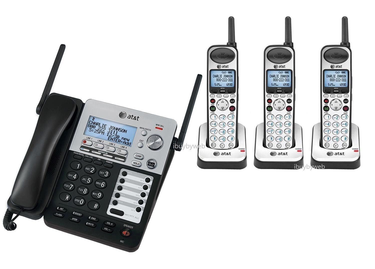 81585bd4cd4 Details about AT T SB67138 DECT 6.0 4 Line 1 Corded 3 Cordless Business  Phones w Music on Hold