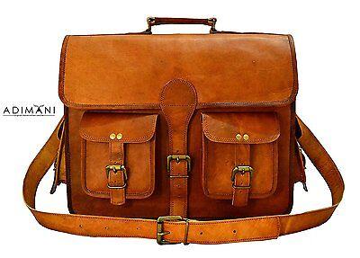 Handmadecraft Men's Vintage Handmade Leather Messenger Bag for Laptop Briefcase