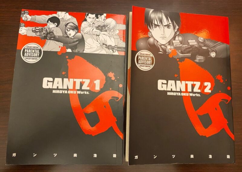 Gantz manga + English + Vol. 1 & 2 + Preowned + Very Good condition