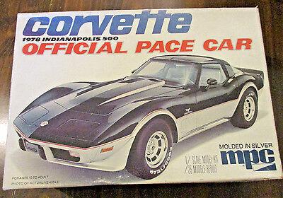Vintage 1978 1/25 Scale MPC Corvette Official Pace Car Kit # 1-3710
