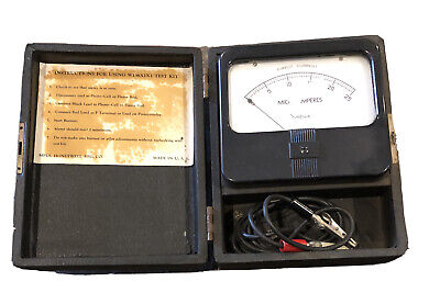 Vintage Microamperes Simpson Meter Direct Current Dc 0-25 With Case . W136a2x1