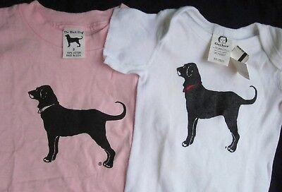 BLACK DOG TAVERN MARTHA'S VINEYARD RARE 2001 2002 Lot of 2 BABY SHIRT and ONESIE