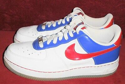NIKE AIR FORCE 1 2008 RED WHITE BLUE 344751-165 Youth SZ 6.5 (Men- 6.5 Women-