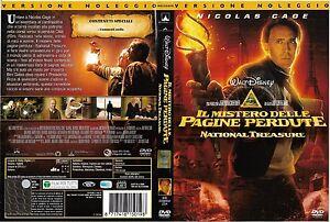 IL-MISTERO-DELLE-PAGINE-PERDUTE-NATIONAL-TREASURE-2007-dvd-ex-noleggio