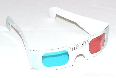 """8x Michael Jackson 3D Glasses Promo 2009 Grammy's Tribute """"THIS IS IT"""" NEW"""