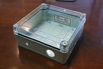 Weatherproof Electrical Nema 4 Enclosure Box Plastic Clear Lid 6 34x6 34x3