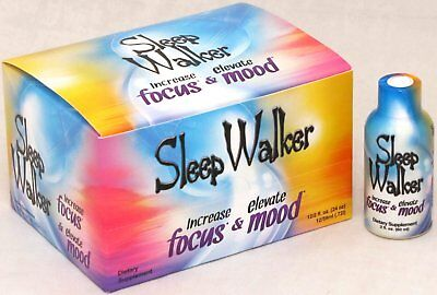 Sleep Walker Shot Focus   Mood Optimizer 12 Bottles Ct Bx 2 Oz Shots Sleepwalker