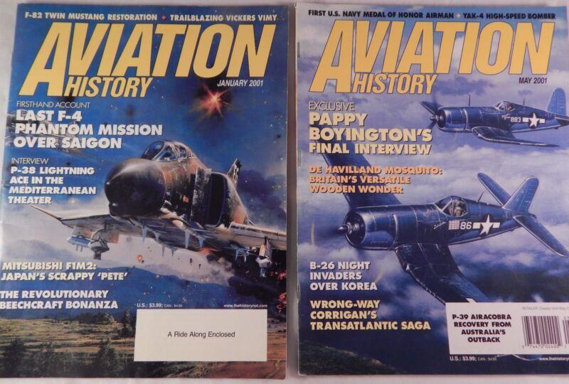 Aviation History Magazine Historical Aircraft Jan May 2001
