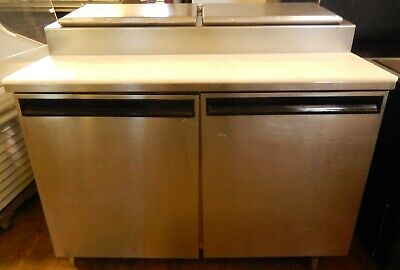 Refrigerated Pizza Prep Table 48 On Casters By Delfield 4248-pt