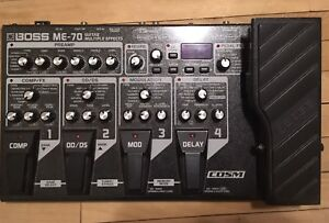 Boss ME-70 guitar effects pedal board