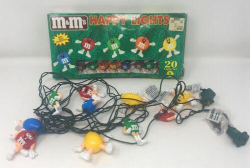 Lot 2 M&M Holiday Happy Lights Vintage 20 Light Set and 10 Light Set Tested