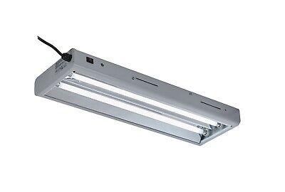 - T5 HO 2 Lamps Fluorescent Tube Grow Light Fixture w/2x 24W Bulbs for Hydroponics