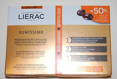 NIB LIERAC Sunissime Tanning Capsules Oral Supplement for Tanning 60 - Oral Supplement Capsules