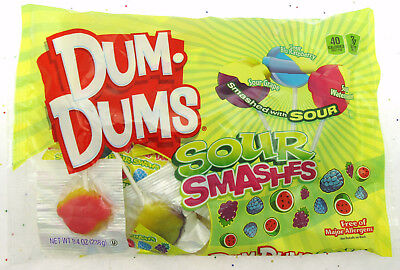 Dum Dums ~ Sour Smashes ~ Lollipop Suckers Candy ~ 8.4oz Bag](Dum Dum Candy)