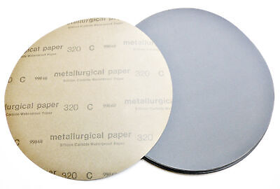 Lot Of 50 12 320 Grit Silicon Carbide Wetdry Sanding Disc
