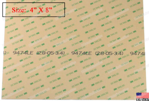 """3m 9474le 300lse Heavy Duty Double Sided Sticky Adhesive Sheet Tape Size 4""""x8"""""""