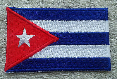 CUBA FLAG PATCH Embroidered Badge Iron or Sew on 4.5cm x 6cm Republic Cuban NEW