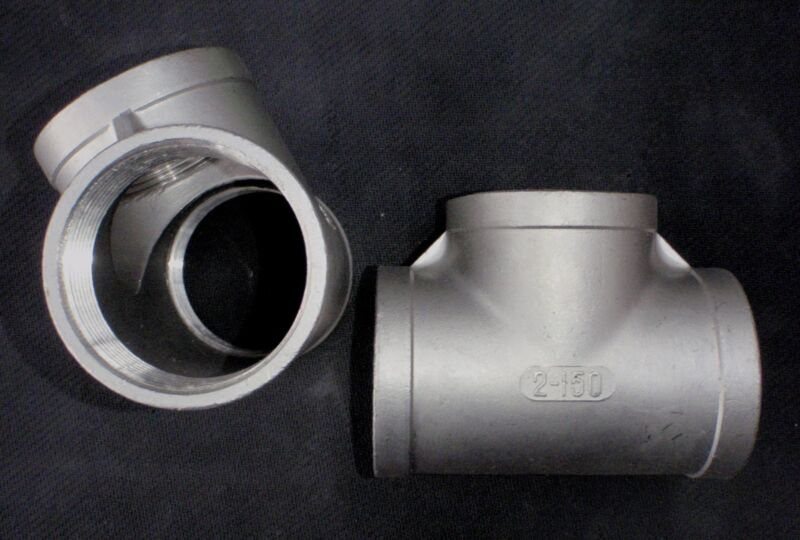 """ST-200 STAINLESS STEEL TEE 2"""" NPT PIPE FITTING"""