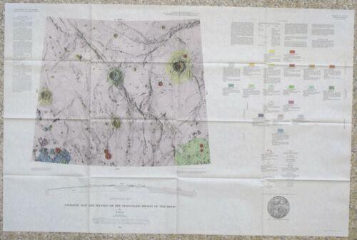 USGS APOLLO TIMOCHARIS REGION LUNAR GEOLOGIC MAP, Vintage 1965, I-462 Scarce