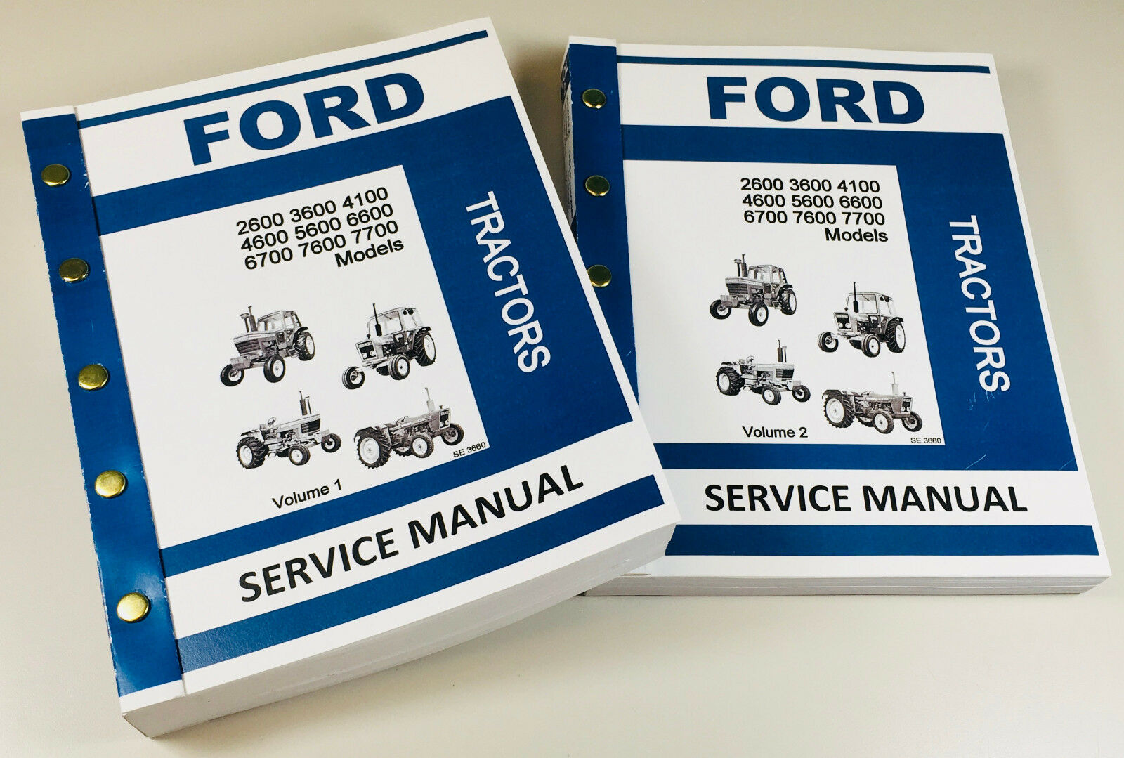 ford tractor 2600 3600 4100 4600 5600 6600 6700 7600 7700 service rh ebay com ford tractor 6600 repair manual 1976 Ford 6600 Tractor Parts