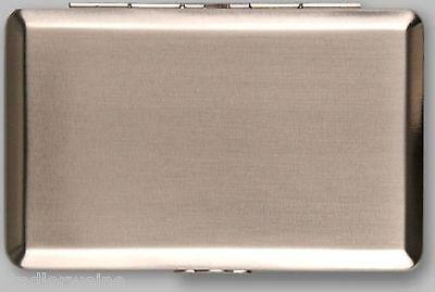 Tabakdose / 110 x 70 mm / Chrom gebürstet / Papierhalter