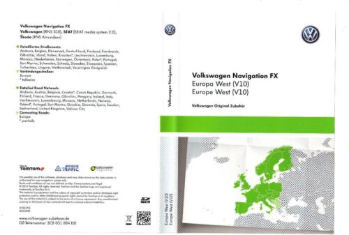VW RNS310 AMUNDSEN V10 2018 Navigation FX SD Card West Europe SKODA