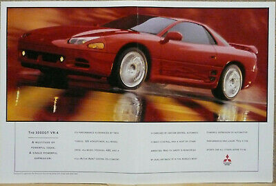 1995 Mitsubishi 3000GT Coupe Ad (red) Print Ad  ()