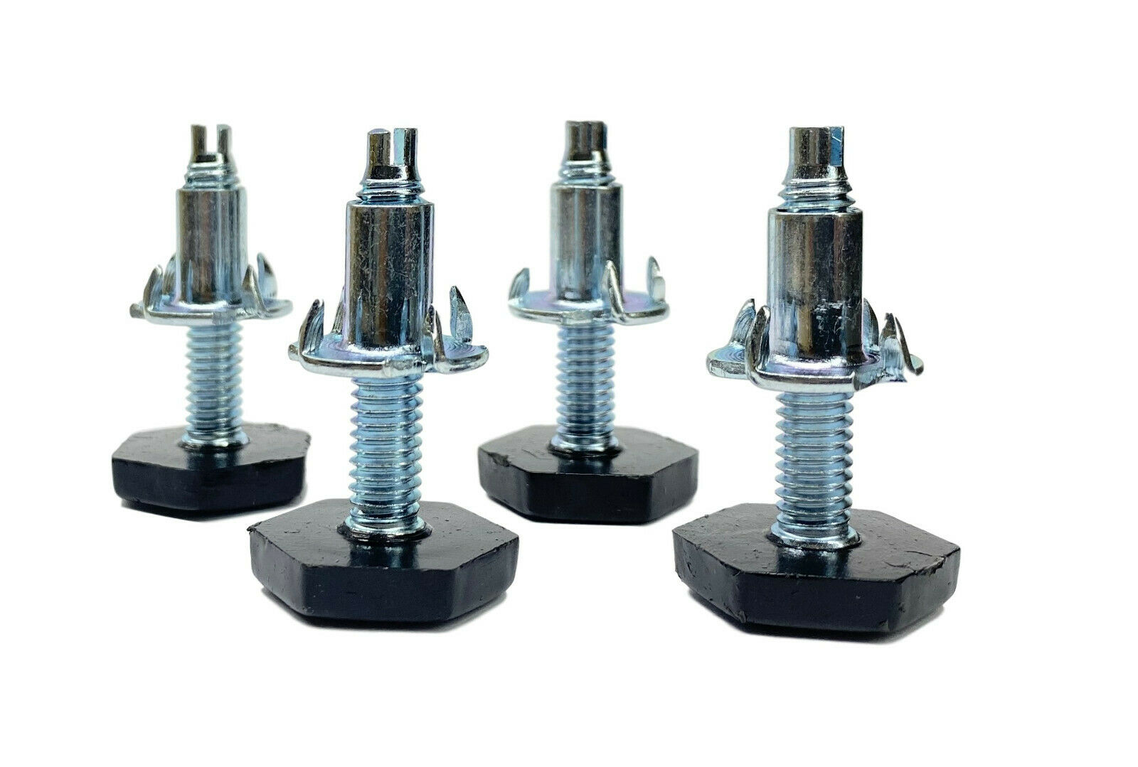 5/16″-18 Nylon Hex Base Furniture Leg Levelers with 4 Prong Tee Nuts – Set of 4 Furniture