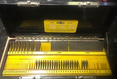 Doall Gage Blocks Set No. 380 R Missing Blocks