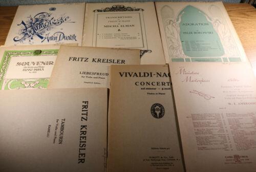 Violin Classical Sheet Music Lot of 8 with Piano Accompaniment Kreisler Dvorak
