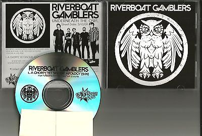 RIVERBOAT GAMBLERS A Choppy yet Sincere Apology PROMO DJ CD Single 2009 USA MINT