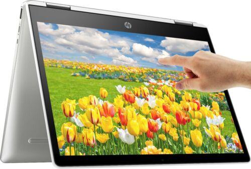 "NEW HP 2-in-1 14"" TOUCHSCREEN Chrome Intel Quad-Core 2.7GHz 128GB SSD 4GB RAM"