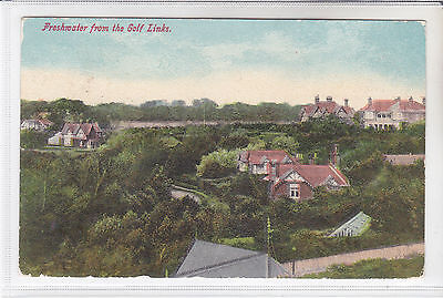 POSTCARD FRESHWATER FROM THE GOLF LINKS, ISLE OF WIGHT FRESHWATER POSTMARK