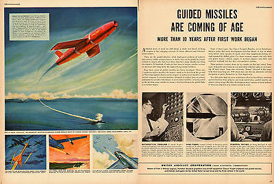 1951 vintage AD, United Aircraft Corp. Guided Missles, 'Regulus', Nike'  032014