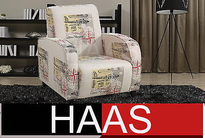 Accent Chair modern printed fabric sofa couch (CLEARING OUT)