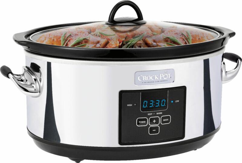 Crock-Pot - 7qt Digital Slow Cooker - Platinum