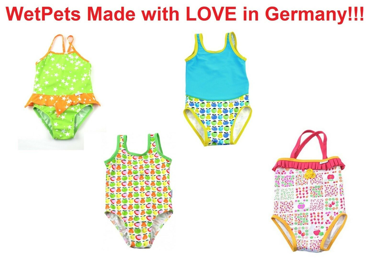 Mädchen Badeanzug Kinder Bikini Gr 62 68  74 80  86 92  98 104  110 116 WetPets