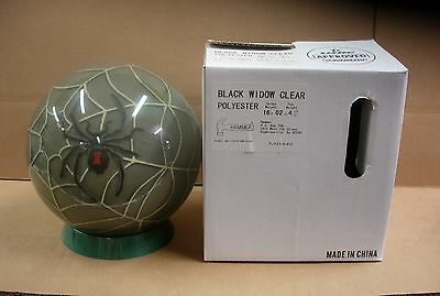 = 16 2oz Tw 4-1/2 Hammer 2007 Black Widow Clear Bowling Ball Never Drilled